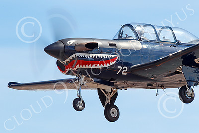 T-34USN 00010 Close up of a landing black sharkmouth US Navy Beech T-34C Mentor 0472 NJ code 10-2013 military airplane picture by Peter J Mancus