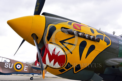 SM-P-40 005 A static sharkmouth Curtiss P-40 Warhawk American World War II era fighter warbird at Chino Planes of Fame 2016 airshow warbird picture by Peter J  Mancus