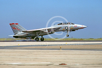 F-14USN 00137 Grumman F-14 Tomcat VF-111 USS Kitty Hawk NAS Miramar June 1980 SHARKMOUTH by Peter J Mancus