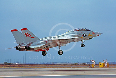 F-14USN 00046 Grumman F-14 Tomcat USN 160688 VF-111 USS Kitty Hawk NAS Miramar July 1981 SHARKMOUTH by Peter J Mancus