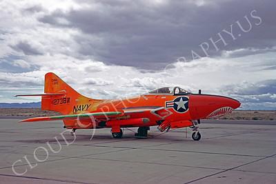 SM 00061 Grumman QF-9G Cougar USN 123787 China Lake 15 March 1967 by Clay Janson
