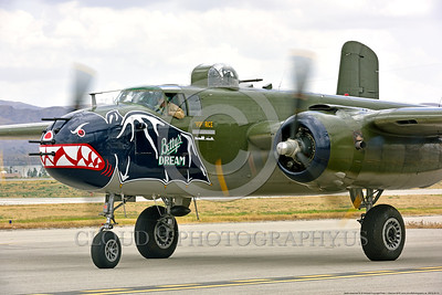 SM-B-25 00013 A taxing colorful sharkmouth North American B-25 Mitchell BETTY'S DREAM at Chino Planes of Fame 2016 airshow warbird picture by Peter J  Mancus