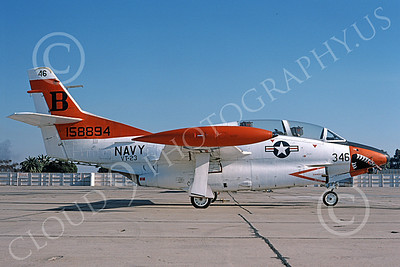 T-2USN 00041 A static sharkmouth North American Aviation T-2C Buckeye USN 158894 VT-23 PROFESSIONALS NAS North Island 3-1976 military airplane picture by Michael Grove, Sr