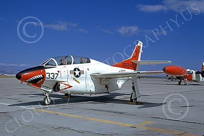 T-2USN 00007 A static sharkmouth North American Aviation T-2C Buckeye USN 155240 6-1973 military airplane picture by Michael Grove, Sr