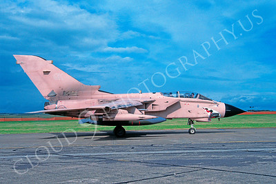SM 00167 Panavia Tornado British RAF Desert Storm veteran August 1991 via African Aviation Slide Service