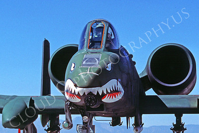 SM 00109 Fairchild A-10 Thunderbolt II Warthog USAF George AFB August 1987 by Peter J Mancus
