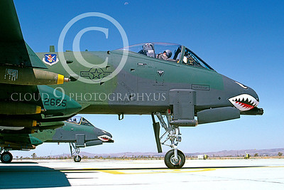 SM 00125 Fairchild Republic A-10 Thunderbolt II US Air Force George AFB Aug 1987 by Peter J Mancus