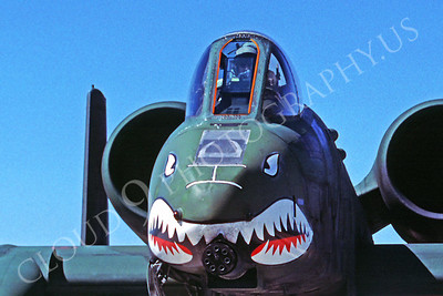 SM 00028 Fairchild A-10 Thunderbolt II Warthog USAF George AFB August 1987 by Peter J Mancus