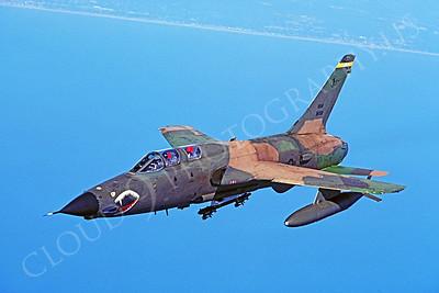 SM 00018 Republic F-105G Thunderchief Wild Weasel Georgia Air National Guard 38332 by Peter J Mancus