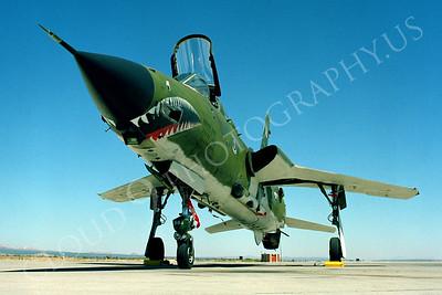 SM 00173 Republic F-105G Thunderchief Wild Weasel USAF George AFB by Peter J Mancus