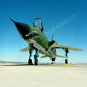 SM 00075 Republic F-105G Thunderchief Wild Weasel USAF George AFB by Peter J Mancus