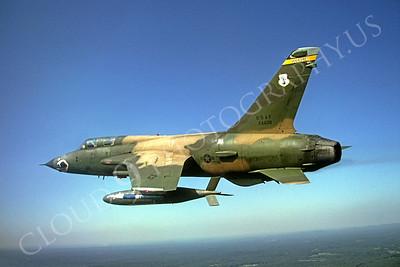 SM 00034 Republic F-105GThunderchief Wild Weasel Georgia Air Anational Guard 24439 by Peter J Mancus