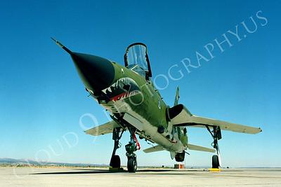 SM 00063 Republic F-105G Thunderchief Wild Weasel USAF George AFB by Peter J Mancus