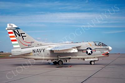SM 00049 Vought A-7B Corsair II USN 154379 VA-93 USS Midway CAG NAS Lemoore 1973 by Peter J Mancus