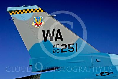 TAILS 00055 Lockheed Martin F-16 USAF at Peter J Mancus