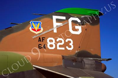 TAILS 00126 McDonnell Douglas F-4 Phantom II USAF 64823 by Peter J Mancus