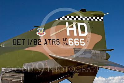 TAILS 00051 McDonnell Douglas QF-4E Phantom II USAF by Peter J Mancus