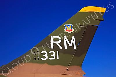 TAILS 00048 Republic F-105 Thunderchief USAF 63331 by Peter J Mancus