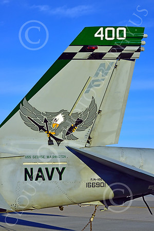 Boeing F-18E-USN 00209 Close up of tail on a static Boeing F-18E Super Hornet USN 166901 VFA-195 DAMBUSTERS commanding officer's airplane CHIPPY HO USS George Washington NF code at NAS Fallon 2-2015 military airplane picture by Peter J Mancus