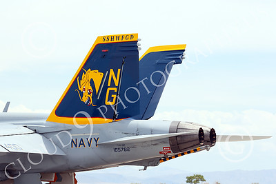 TAILS 00042 Close up of the tail of a Boeing F-18E Super Hornet USN VFA-192 Golden Dragons at NAS Fallon 7-2014 military airplane picture by Peter J Mancus