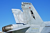 TAILS 00054 Tail of a McDonnell Douglas F-18C Hornet USN jet fighter NAWDC STRIKE at NAS Fallon 4-2016 military airplane picture by Peter J  Mancus