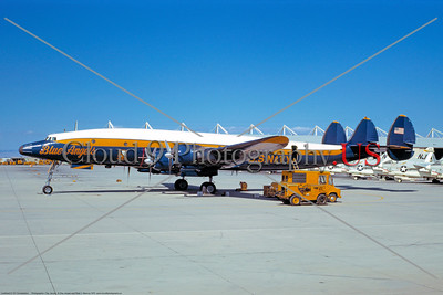 BA-C-121 004 A static colorful Lockheed C-121J Constellation USN Blue Angels NAS Lemoore 5-1970 military airplane picture by Peter B Lewis     DONEwt