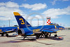BA-F11F 00001 A static Grumman F-11F Tiger USN Blue Angels NAS El Centro 11-1967 military airplane picture by Clay Jansson