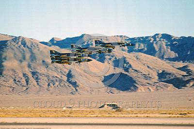 BA-F-4 00002 A low flying pass of USN McDonnell Douglas F-4 Phantom II Blue Angels Nellis AFB 11-1971 military airplane picture by Peter J Mancus DONE