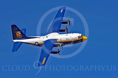 BA-C-130 00052 Lockheed C-130 Hercules US Navy Blue Angels by Joseph D Kates