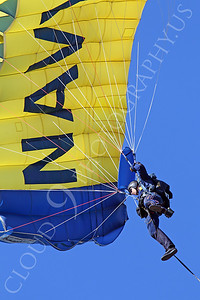 LEAPFROGS 00005 A US Navy Seal LEAPFROG descends below his parachute, by Peter J Mancus