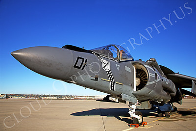 AV-8BUSMC 00058 A USMC VMA-214 Blacksheep Boeing AV-8B Harrier during US Naval Centennial airshow, by Peter J Mancus