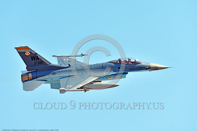 AGGR-F-16 0002 A flying Lockheed Martin F-16 Fighting Falcon Viper USAF Aggressor jet fighter 87321 WA code with Soviet style red stars 7-2017 military airplane picture by Peter J  Mancus     DONEwt
