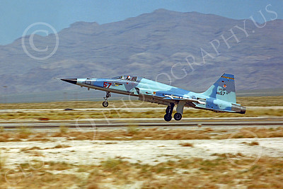 F-5USAF 00014 Northrop F-5E Freedom Fighter USAF 01557 AGGRESSOR Nellis AFB by Peter J Mancus