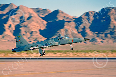F-5USAF 00024 Northrop F-5E Freedom Fighter USAF 01513 AGGRESSOR Nellis AFB 1979 by Peter J Mancus