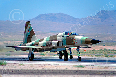 F-5USAF 00013 Northrop F-5E Freedom Fighter USAF AGGRESSOR Nellis AFB June 1980 by Peter J Mancus