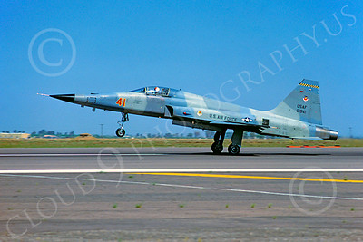 F-5USAF 00011 Northrop F-5E Freedom Fighter USAF 01541 AGGRESSOR July 1980 Luke AFB by Peter J Mancus