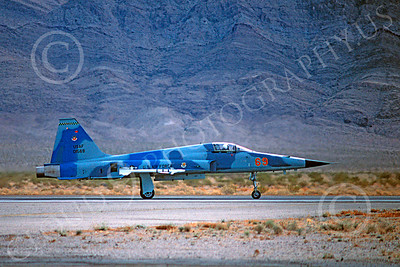 F-5USAF 00017 Northrop F-5E Freedom Fighter USAF 01569 AGGRESSOR Nellis AFB Feb 1981 by Peter J Mancus