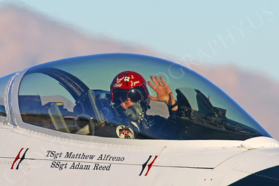 ACM 00370 USAF F-16 Fighting Falcon Thunderbird pilot by Tim P Wagenknecht