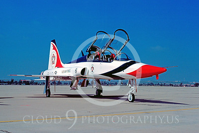 TB-T-38 00001 Northrop T-38 Talon USAF Thunderbirds March AFB June 1976 by Peter J Mancus