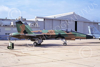TOPG 00107 A static brown green black McDonnell Douglas F-18 Hornet USN 161718 TOP GUN NAS Miramar 1-1995 military airplane picture by Michael Grove, Sr