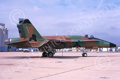 TOPG 00019 A static brown green black McDonnell Douglas F-18A Hornet USN 161716 TOP GUN NAS Miramar 5-1995 military airplane picture by Michael Grove, Sr