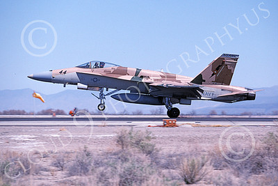 TOPG 00111 A landing McDonnell Douglas F-18A Hornet USN 162906 TOP GUN NAS Fallon 4-2000 military airplane picture by Michael Grove, Sr