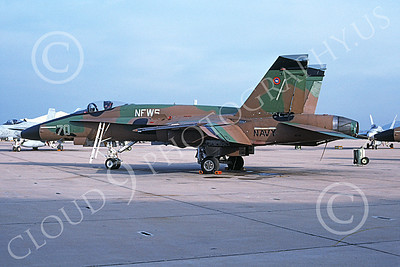 TOPG 00109 A static McDonnell Douglas F-18A Hornet USN 161716 TOP GUN NFWS NAS Miramar 2-1995 military airplane picture by Bill Winsome