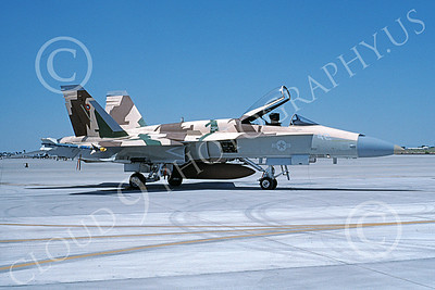 TOPG 00089 A static McDonnell Douglas F-18A Hornet USN 162879 TOP GUN NAS Fallon 6-1996 military airplane picture by Michael Grove, Sr