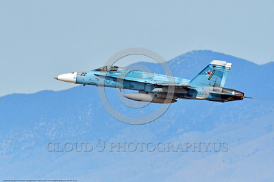 TOPG-F-18 0004 A blue color scheme McDonnell Douglas F-18 Hornet USN jet figher 164066 TOP GUN climbs out after take off at NAS Fallon 3-2017 military airplane picture by Peter J  Mancus