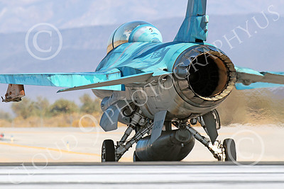 TOPG 00045 A blue Lockheed Martin F-16 Fighting Falcon jet fighter USN TOP GUN taxis for take-off at NAS Fallon 10-2013 military airplane picture by Peter J Mancus
