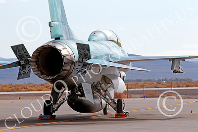 TOPG 00049 A static blue Lockheed Martin F-16 Fighting Falcon jet fighter USN TOP GUN NAS Fallon 10-2013 military airplane picture by Peter J Mancus