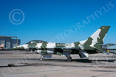 F-16USN 00003 Lockheed Martin F-16N Fighting Falcon US Navy 163269 TOPGUN Nov 1999 via African Aviation Slide Service
