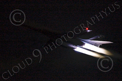 AB - B-1 00214 Rockwell B-1 Lancer USAF in afterburner at night military airplane picture by Peter J Mancus