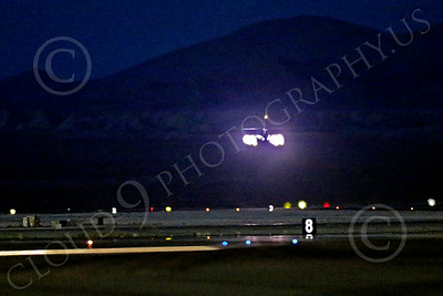 AB-B-1 00194 A Rockwell B-1 Lancer strategic jet bomber USAF takes off in full afterburner for a night Red Flag mission at Nellis AFB 7-2014 military airplane picture by Peter J Mancus